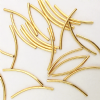 22K Gold Plated 35x2mm Curved Tube Spacer Beads PK20
